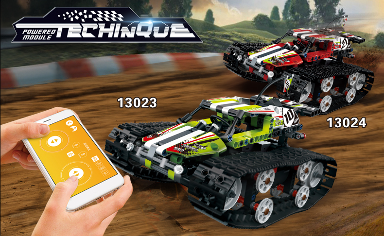 MOULD KING Crawler RC Tracked Racer Compatible 42065 MOC 13023 13024 Building Block 1