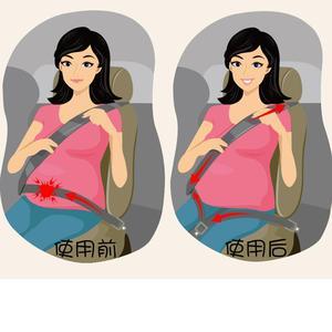 Image 2 - Universal 1.6M Bump Belt Car Seat Belts For Pregnant Women Anti belt Belt