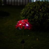 Outdoor LED Lights Solar Lamp Inserted Lawn Light 4 LED White Lights Garden Light Christmas Lantern LED Christmas Solar Lamp
