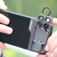 Ulanzi U lens 5 in 1 Kit Obiettivo Del Telefono 20X Super Macro Lens CPL Fisheye Lens Teleobiettivo per iPhone 11/11 Pro/11 Pro Max Pixel 4 XL