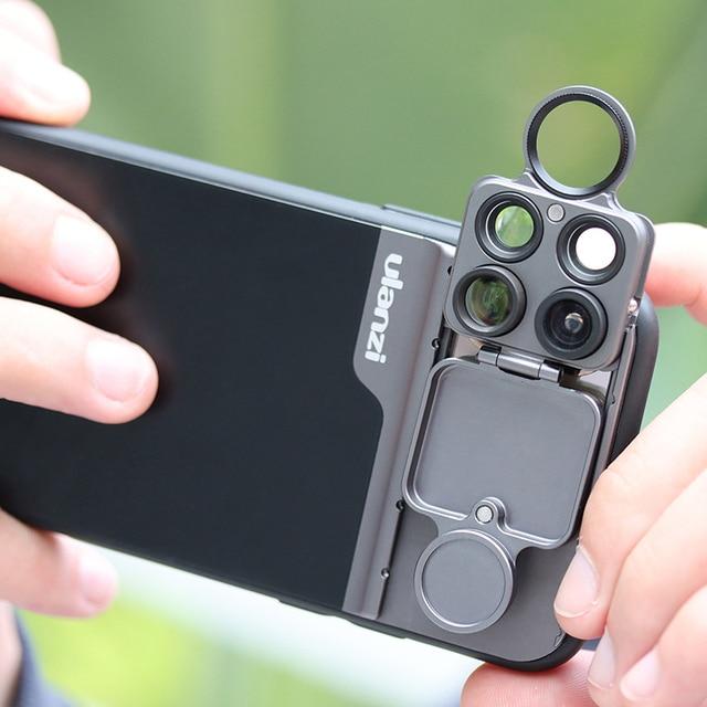 Ulanzi U lens 5 in 1 telefon Lens kiti 20X süper makro Lens CPL balıkgözü telefoto Lens iPhone için 11/11 Pro/11 Pro Max piksel 4 XL