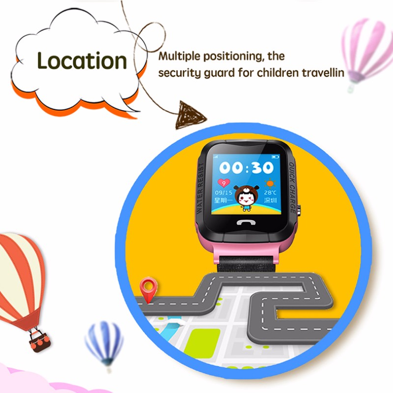 Hd4e3798ab29c4deb8a174e48c2e4319cG - GPS kids Smart Watch Phone Position Children Watch 1.22 inch Color Touch Screen WIFI SOS Tracker Smart Baby Watch IOS & Android