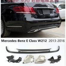 Для Mercedes-Benz E Class W212 E200 E250 E300 E350 E500 2013- задний спойлер& Exhause высокое качество PP бампер диффузор