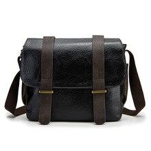Vintage Men PU Briefcase Bag Fashion Designer Messenger Bags Business Male Shoulder Document Case Portfolio