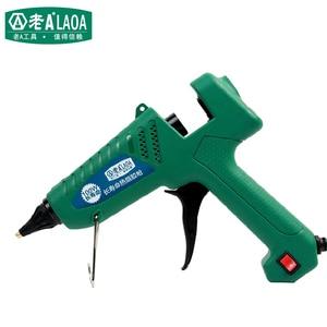 Image 2 - LAOA 25W/60W/100W/150W Hot Melt Kleber Gun Professionelle pistolet eine colle mini Für Metall/Holz Arbeits Stick Papier Haarnadel PU Blume