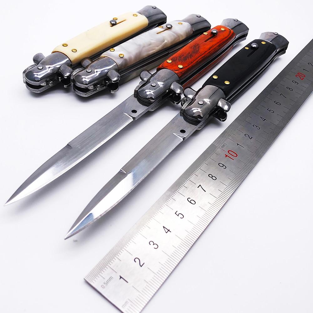 """BMT сделано 9 """"Итальянский AKC Крестный отец стилет мафиозный тактический складной нож выживания нож для охоты и кемпинга EDC Ножи      АлиЭкспресс"""