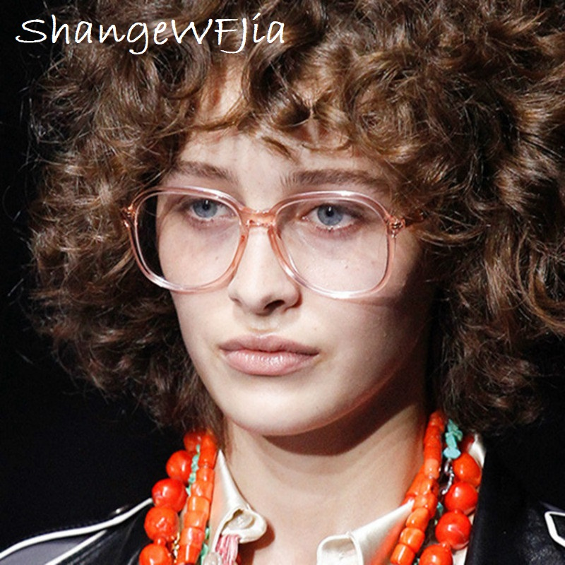 2020 NEW Transparent Pink  Glasses Optical Glasses Frames For Women  Men Eyeglasses Eyewear Frame Spectacle