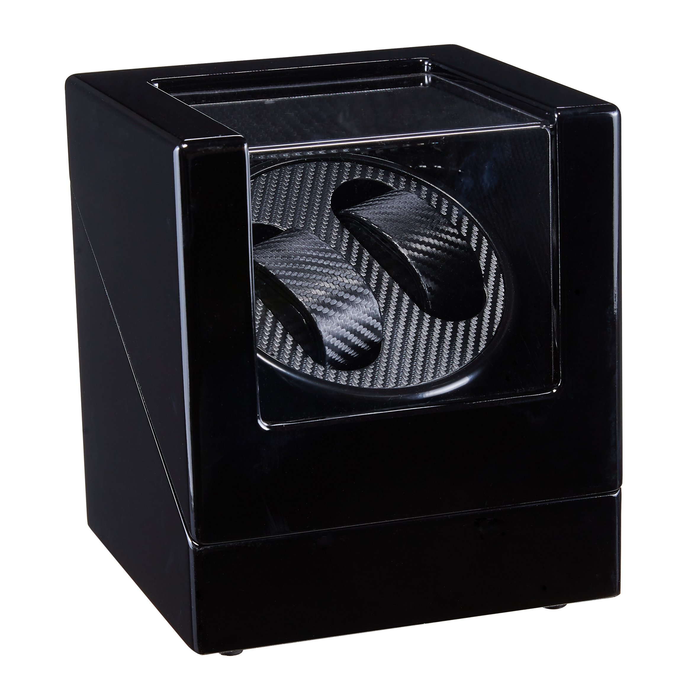 Black Wooden Mechanical Watch Winder Motor Shaker Double Watch Winding Box Holder Display Jewelry Storage Organizer W113D-BT | Watch Winders