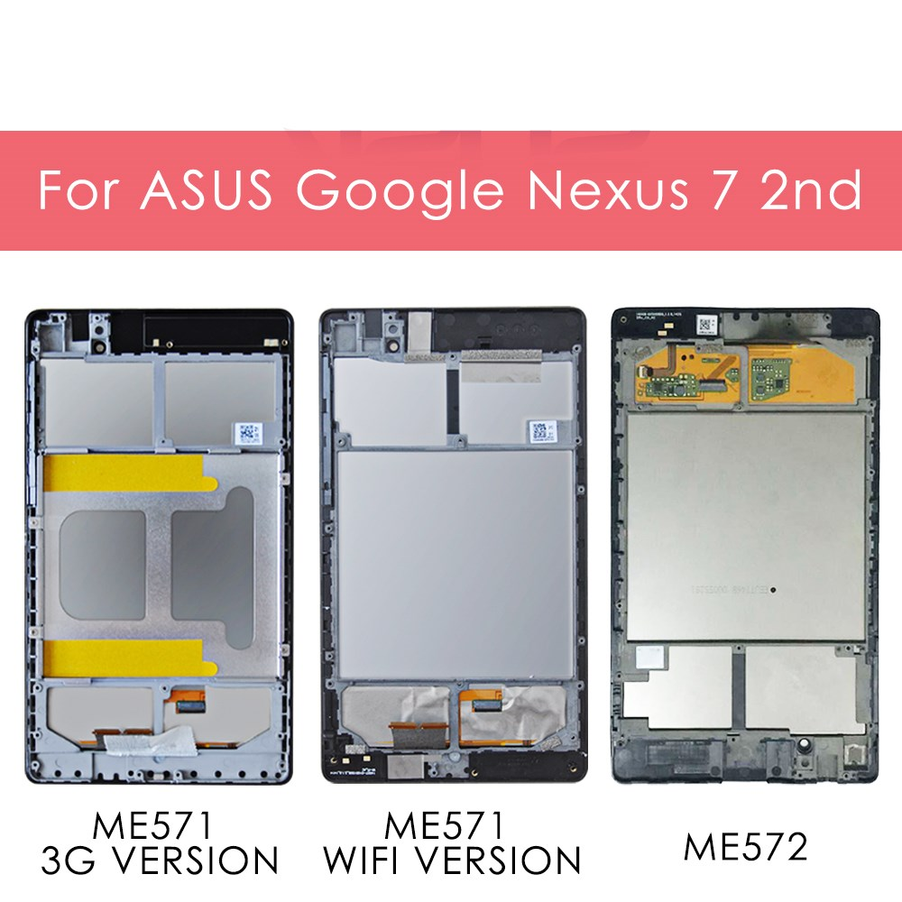 For ASUS Google ME571 Nexus 7  2nd LCD Touch Digitizer Assembly Black WIFI// 3G