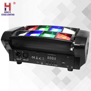 Moving head led light mini spider 8x6w rgbw color jumping beam effect for wedding party music dj