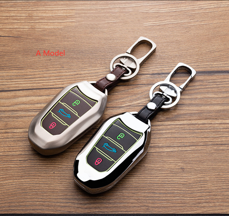 Car <font><b>Key</b></font> Case <font><b>Cover</b></font> For <font><b>Peugeot</b></font> 301 308 408 508 2008 308S 3008 4008 <font><b>5008</b></font> 307 Accessories Alloy leather Keychain Bag Holder image