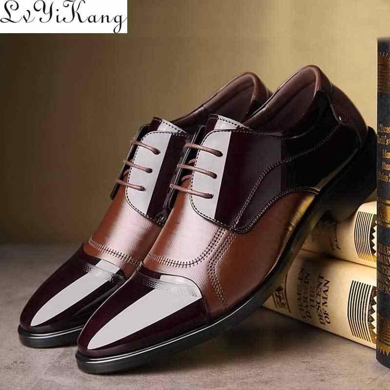 Kinh Doanh Sang Trọng Giày Oxford Nam Da Thoáng Khí Giày Cao Su Form Đầm Suông Giày Nam Công Sở Dự Tiệc Cưới Giày Mocassins