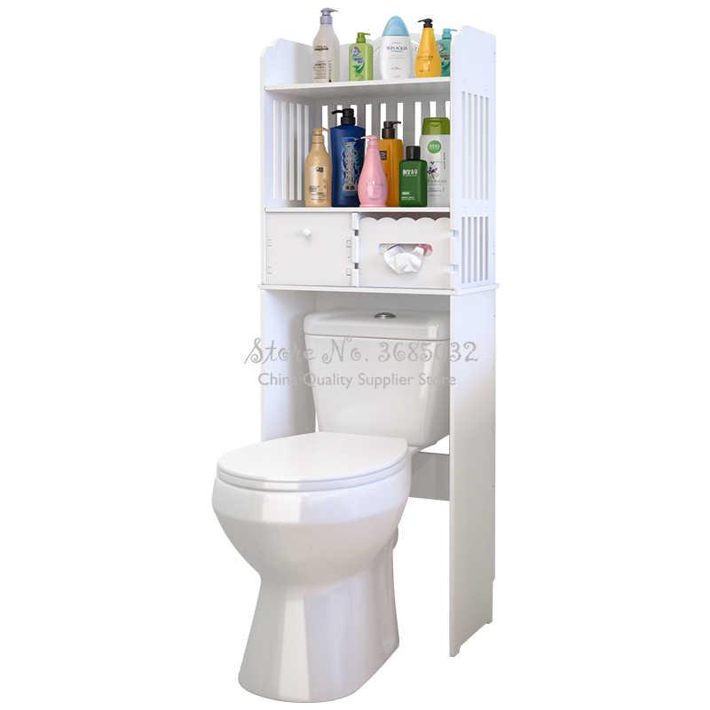 실용적인 화장실 보관 공간 보호기 수건 선반 현대 욕실 캐비닛 홈 가구 방수 및 청소하기 쉬운