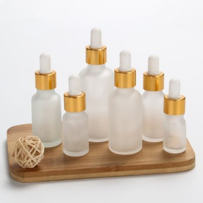 12pcs 5ml 10ml 15ml 30ml 50ml 100ml Frost Glass Dropper Bottle Empty Cosmetic Packaging Container Vials Essential Oil Bottles
