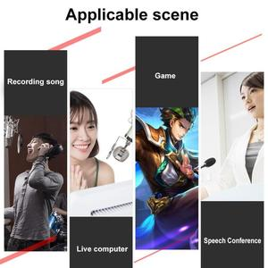Image 4 - V8 Bluetooth Audio USB Headset Microphone Webcast Live Sound Card 112 kinds of electric sound Broadcast for Phone Computer PC