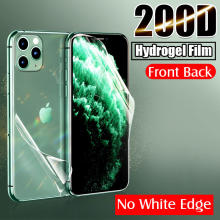 100D Front Back Soft Hydrogel Film For iphone 11 Pro Max X XR XS 7 8 6 6s PLus Full Cover Screen Protector Rear Film Not Glass()
