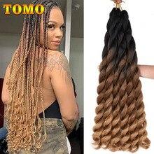 Hair-Extensions Crochet-Hair Jumbo Braids Curly Wavy Dark-Brown Color Black Synthetic