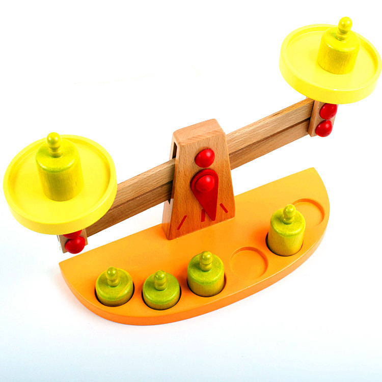 Montessori Teaching Aids Wooden Balance Toy Baby Balance Game Libra Wood Educational CHILDREN'S Toy 1-2-3-Year-Old