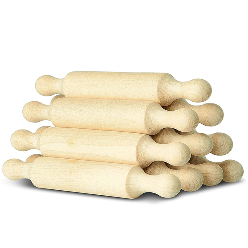 Wooden Mini Rolling Pin 6 Inches Long Kitchen Baking Rolling Pin Small Wood Dough Roller for Children Fondant Pasta