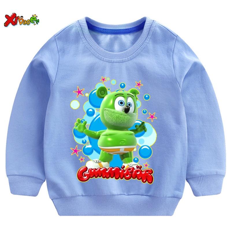 Gummy Bear kids hoodies sweatshirts t shirt Fashion Personality 2020 Casual T Shirt girl tshirt for children boys girls T-shirt