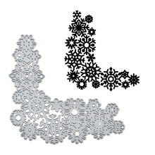 YaMinSanNiO Christmas Snowflake Decor Dies Metal Cutting for Card Making Scrapbooking Die Embossing Cuts Stencil Crafts