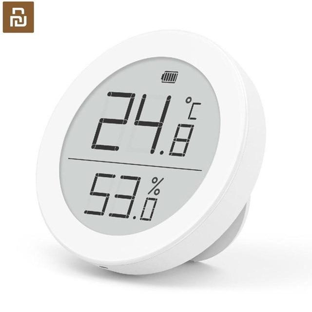 Sensor de temperatura Youpin Cleargrass Bluetooth Hu mi, almacenamiento de datos, pantalla de tinta e link, termómetro, medidor de humedad, aplicación Mi
