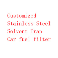 Customized Stainless Steel Spiral 6 inch Solvent Trap Car Fuel Filter
