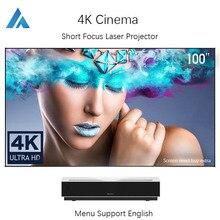 Projektor laserowy Xiaomi Fengmi 4K. Projektor krótkoogniskowy 4K wideo telewizyjne kino domowe z androidem Wifi Beamer 1700 ANSI Dolby
