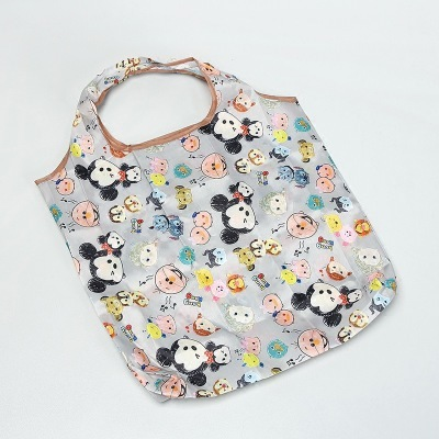 Disney cartoon folding bag for shopping Mickey mouse bag storage High capacity green bag hand cartoon shoulder | Happy Baby Mama