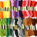 8 шт. разноцветная нить, Аналогичная DMC Вышивка крестиком хлопковое шитье, набор нитей для вышивки моток пряжи, инструменты для шитья своими ...