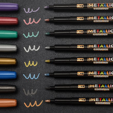 8 Colors Metallic Marker Water Paint Marker Brush Pen Drawing DIY Photo Album Glass Paper Color Marker Drawing Writing Gift
