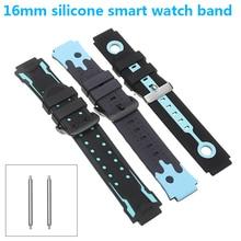 Silicone Strap Wristwatch Smart-Sport Children Replacement Adjustable Universal Waterproof