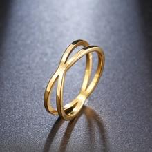 CACANA Bohemia Vintage Cruz Anillos de oro para mujer boda moderna Cadena de acero inoxidable joyería Anillos antiguos grandes Anillos W83