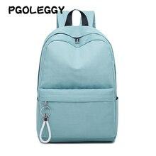PGOLEGGY brand  girls backpack Waterproof nylon Backpacks for laptop School Bags travel bag woman school