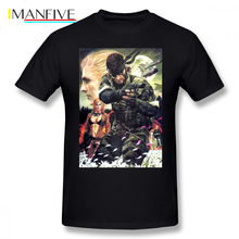 Metal Gear Solid T Shirt Movie Poster Merchandise T-Shirt Short Sleeves 6xl Tee Shirt 100 Percent Cotton Print Fun Beach Tshirt цены
