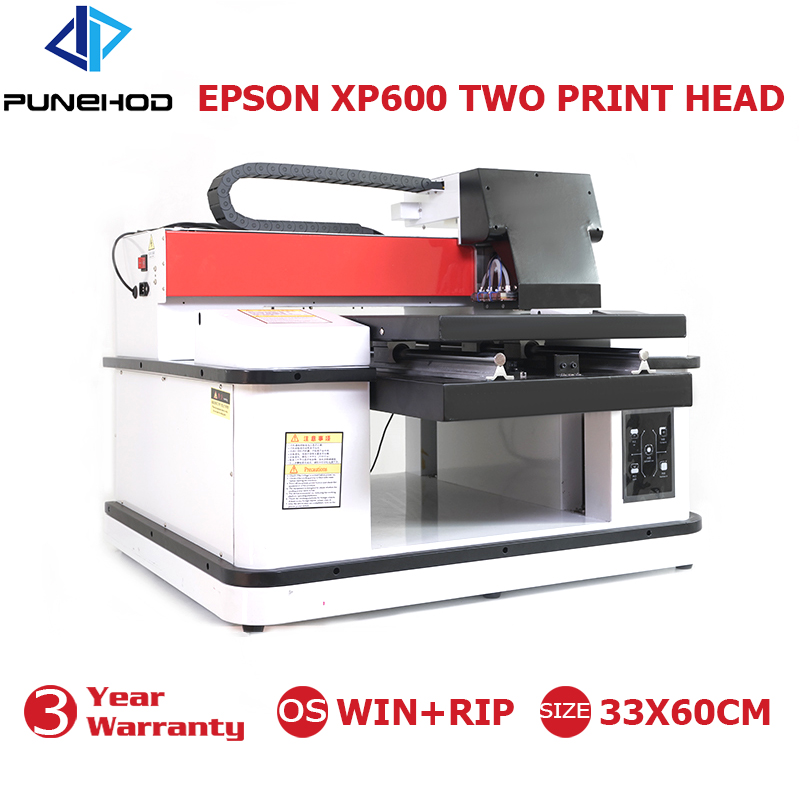 Punehod A3+ 3360 Large Size High Speed UV Flatbed Printer CMYK+WWWW Double Epson XP600 Print Nozzle