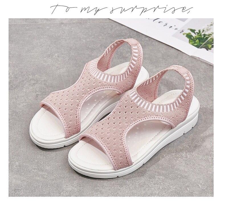 Hd4e55aeb1e7f49819cea7022324c47319 WDZKN 2019 Sandals Women Summer Shoes Peep Toe Casual Flat Sandals Ladies Breathable Air Mesh Women Platform Sandals Sandalias