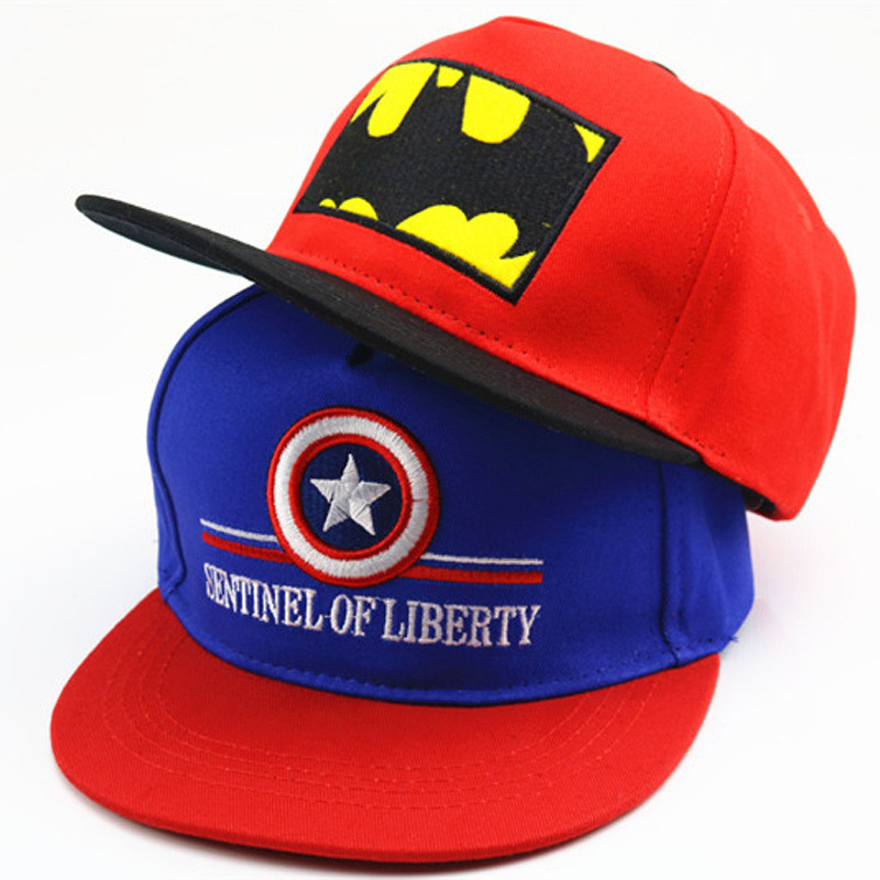Disney Anime Hat of Kids Boy Girl Travel Sport Caps bat Baby Caps Figure Gift Toys Headgear 2-8Y Head 48-55cm