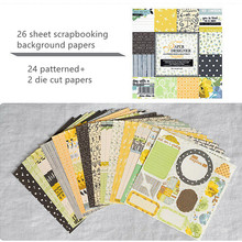 24 sheet Origami Paper +2 die cut paper background scrapbooking papers for card making album scrapbook hand made craft supply