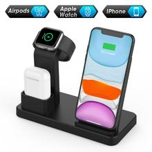 NTONPOWER 3 in 1 Wireless Charging Stand 10W Fast Wireless Charger For phone Charging Station for Airpods 2019 Watch 4 32