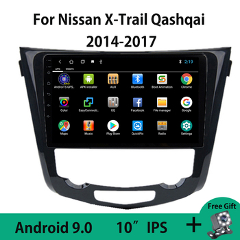 Android 9.0 Car Radio Multimedia Video Player For Nissan X-trail XTrail T32 Qashqai J11 J10 2014 2015 2016 2017 Rear View Camera image