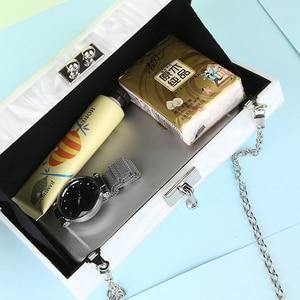 Image 3 - White Acrylic Clutch Bag Mrs Clutch Purse and Handbag Women Shoulder Bag Party Wedding Clutch Bag for Bridal ZD1331
