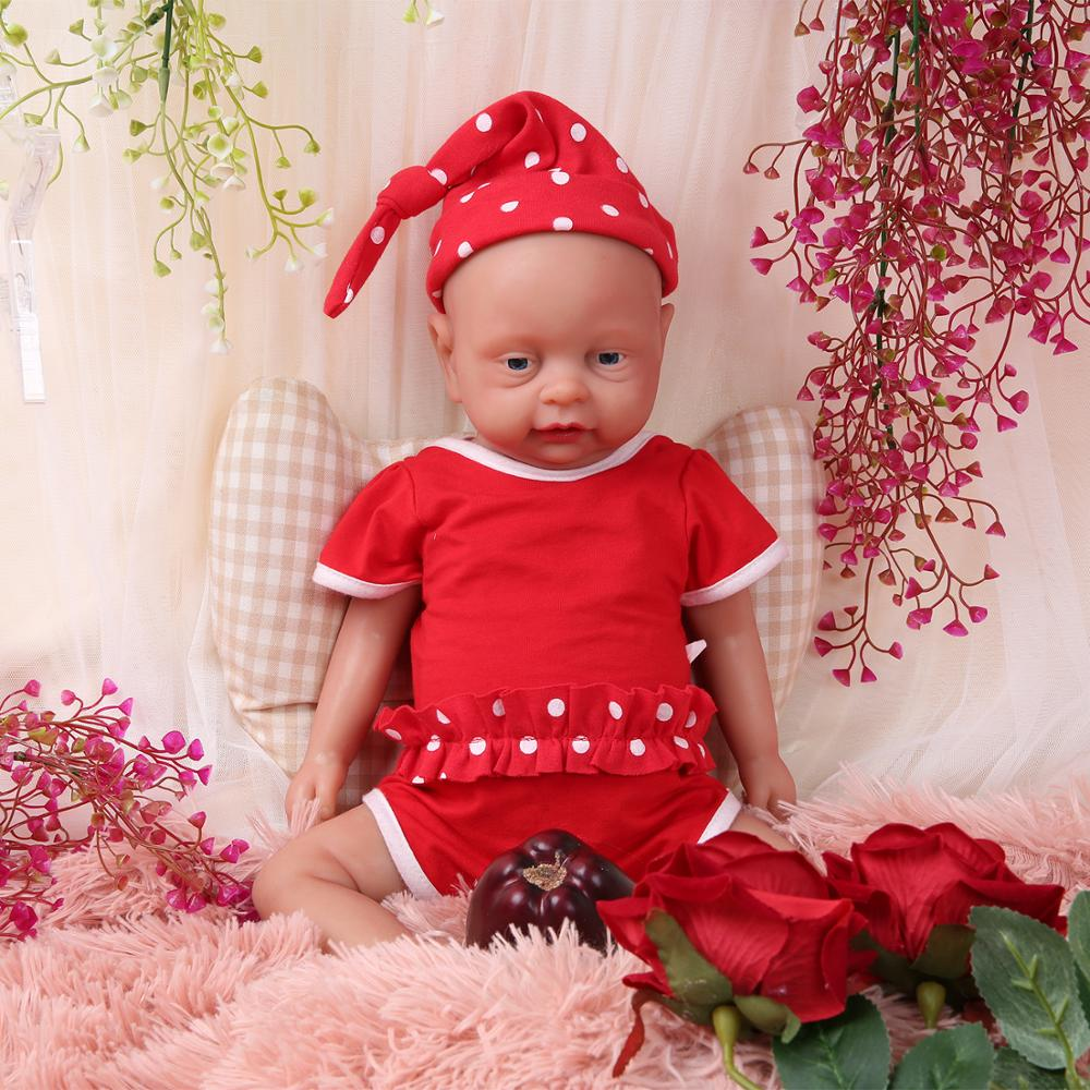 IVITA WG1502 46cm 3500g Reborn Baby Doll Full Silicone Body Alive Babies Girl Eyes Opened Can Take Pacifier In Mouth Kids Toys