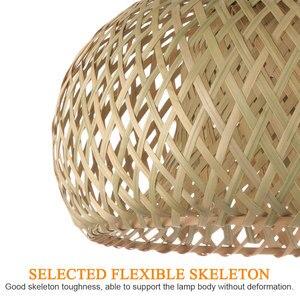 Image 4 - Китайская лампа из ротанга ручной работы, Бамбуковая люстра в стиле ретро для сада, ресторана, спальни, кафе, бара, гостиной