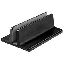 Алюминиевый компактный вертикальный Настольный держатель-подставка для MacBook Chromebook, ноутбука, силиконовая защитная подставка
