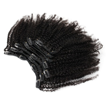 Eseewigs 4b 4c Clip In Hair Extensions Afro Kinky Curly Brazilian Remy Human Hair 7pcs/Set 120g Natural Black clip in hair extensions natural human virgin brazilian hair clip ins afro kinky curly clip in hair extensions 10 26 inches in