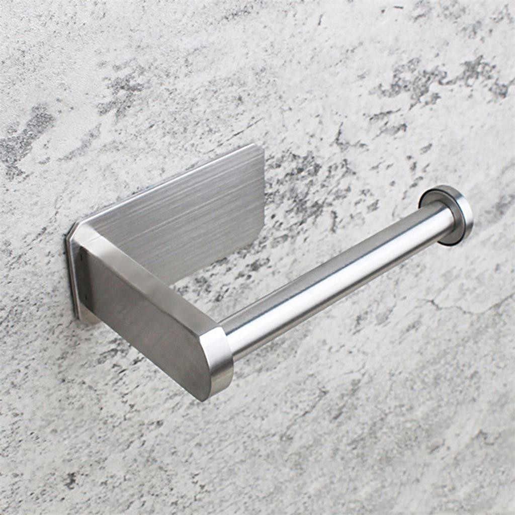 Porte-rouleau wc auto-adhésif porte-papier hygiénique pour salle de bain bâton sur mur papier toilette brossé inox