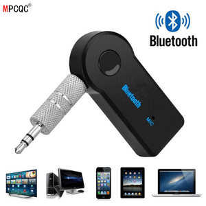 Adaptador de transmisor 2 en 1 receptor Bluetooth inalámbrico Jack de 3,5mm para música de coche TV Audio Aux A2dp auricular Reciever manos libres