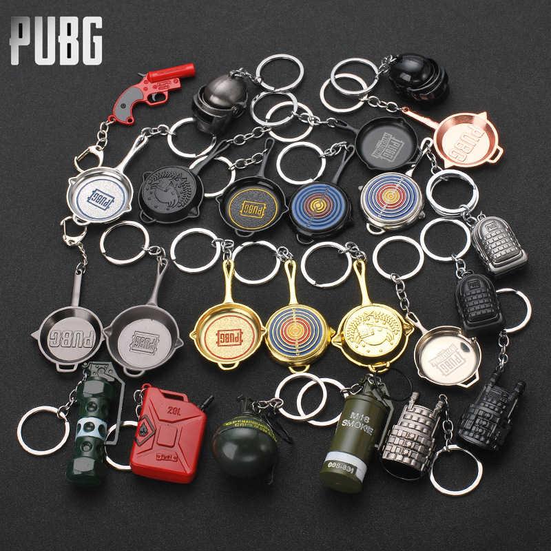 PUBG anahtarlık Cosplay anahtarlık Prop PLAYERUNKNOWNS BATTLEGROUNDS kask sırt çantası anahtarlık hediye pervane