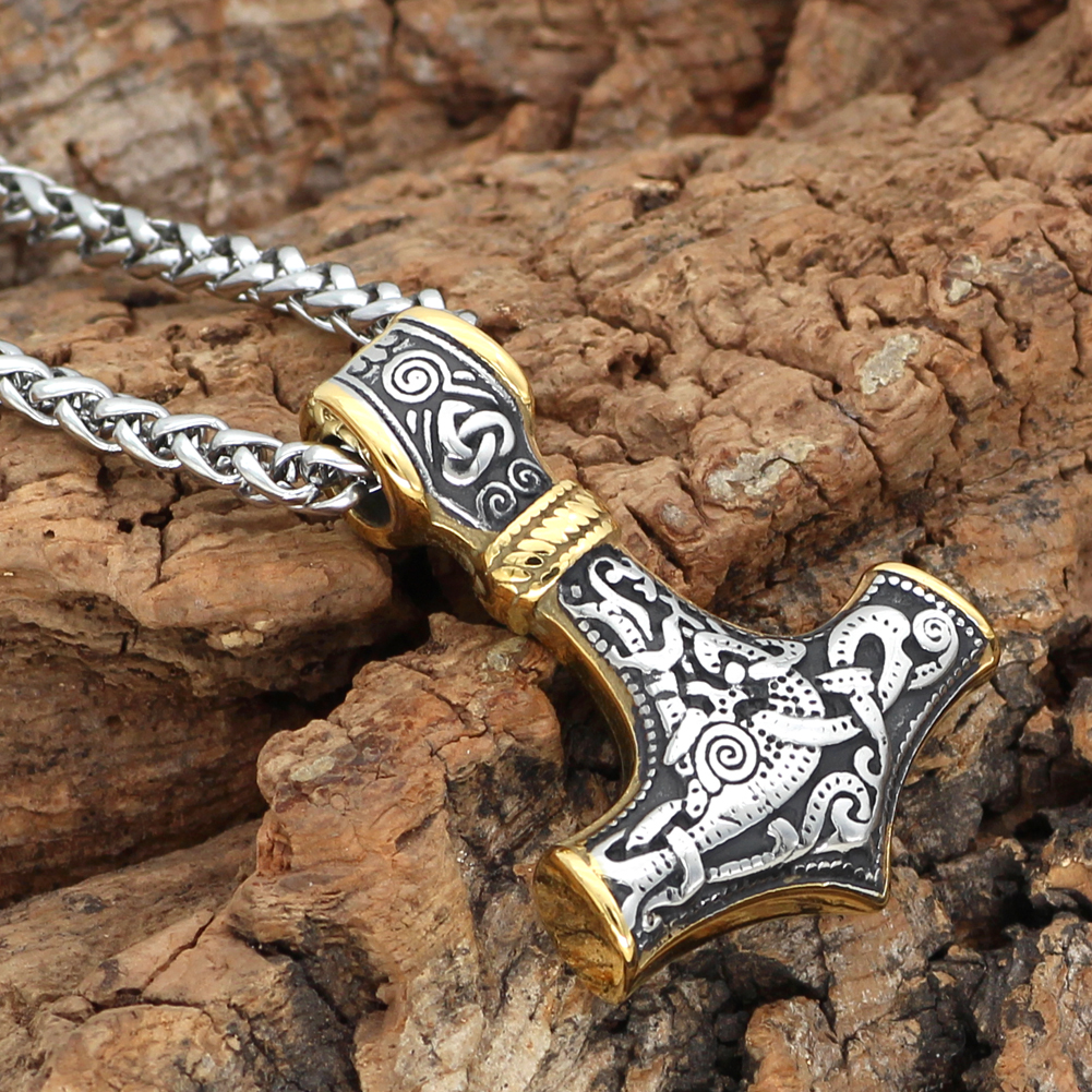 Collier Viking acier inoxydable Thor  5